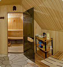 Finnish sauna bath